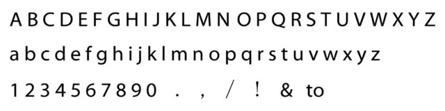 刻印のブロック体フォント